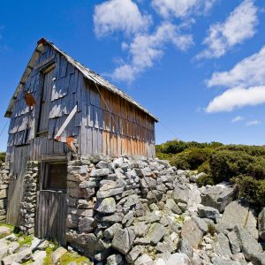 Kitchen Hut above lake dove / Cradle Mountain