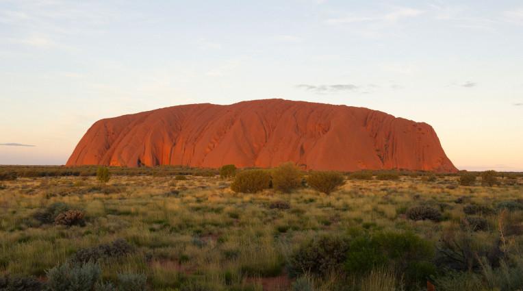 Finial Light on Uluru, sunset