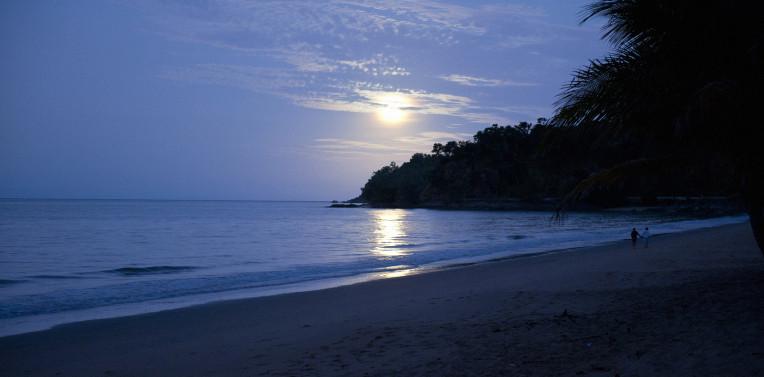 Moon lit beach north of Cairns