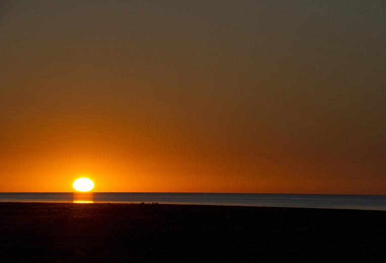 Golden Sunrise over Lake Ayre