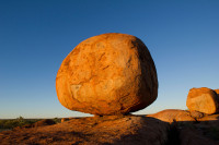 Sunset on one of the  Devils Marbles