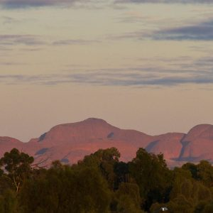 Early morning light hits Kata Tjuta