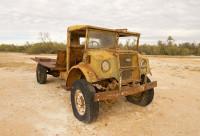Old 1940's Chevrolet truck in Australian Desert
