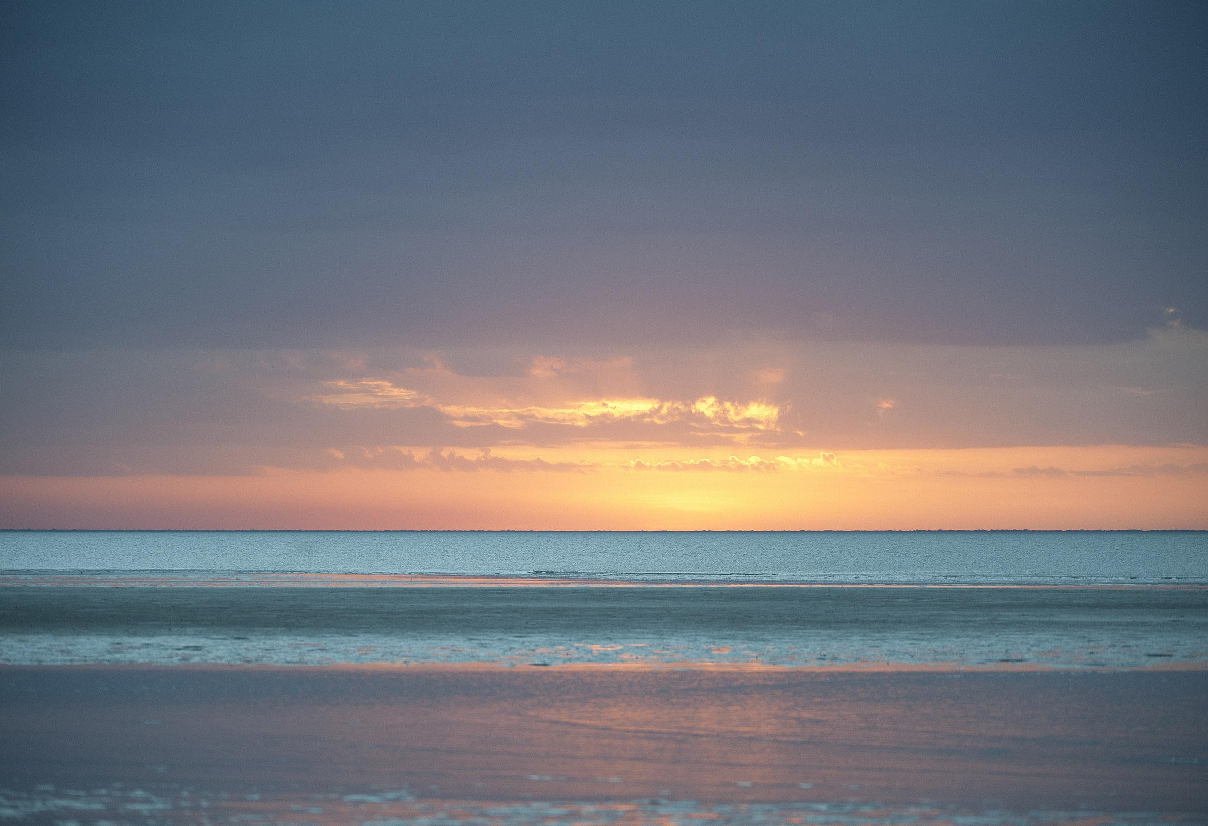 Sunset at Weipa Beach, far North Queensland.