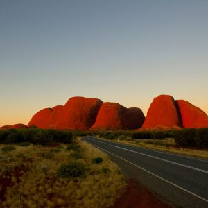Sunset on Kata Tjuta