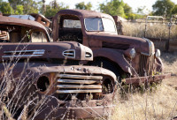 Old Ford Trucks rusting