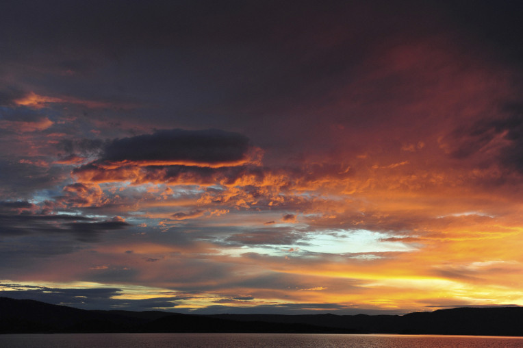 Amazing Clouds at sunset above Lake Argyle