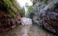 Warm water flowing at El Questro Gorge.