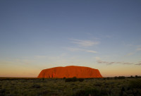 A Bright Red Uluru (Ayres Rock)