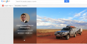 Over 200,000 views of Lloyd Howlett's Google+ Page.