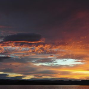 Amazing Clouds at sunset above Lake Argyle