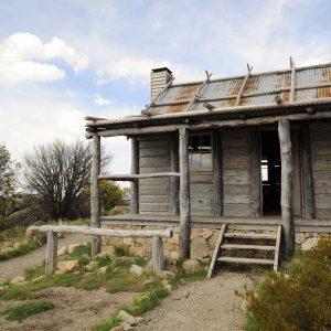 The Man Fro mSnowy River Hut, ear Mt Sterling