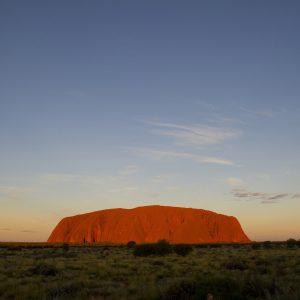 A Bright Red Uluru (Ayres Rock)